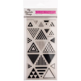 """CS539 My Favorite Things Vault Clear Stamps Trendy Triangles 4""""X8"""""""