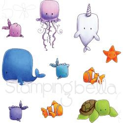 076290 Stamping Bella Cling Stamp Set Under The Sea