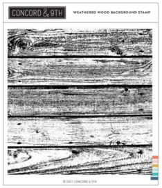 """662354 Concord & 9th Clear Stamps Weathered Wood Background 6""""X6"""""""