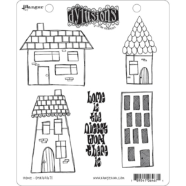 "541860 Dyan Reaveley's Dylusions Cling Stamp Collections Home 8.5""X7"""