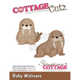 """CC708 CottageCutz Dies Baby Walruses, 1.6"""" To 1.9"""""""