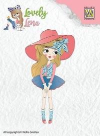 130511/0401 Nellies Choice Clearstempel Lena met hoed