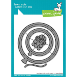 LF2266 Lawn Cuts Custom Craft Die Stitched Balloon Frames
