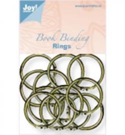 6200/0131 Boekbinders-ringen Antiek/koper 30 mm