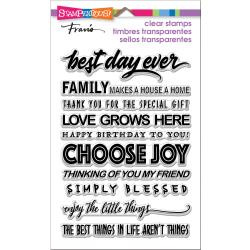 560490 Stampendous Perfectly Clear Stamps Best Day