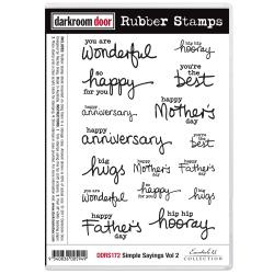 "DDRS172 Darkroom Door Cling Stamps Simple Sayings Vol 2 7""X5"""