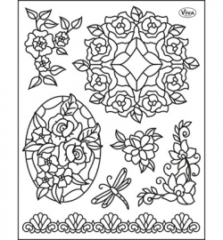 6979 Viva Decor Clear Stamps Tiffany Dragonfly