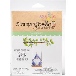447047 Stamping Bella Cling Stamps Gnome On A Swing