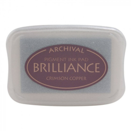 BR1-97 Brilliance ink pad crimson copper