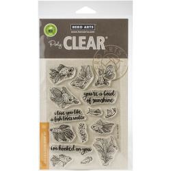 "575902 Hero Arts Clear Stamps Pet Goldfish 4""X6"""