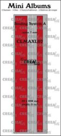 CLMAXL07 Crealies stans Mini Albums Bindsysteem A (rug:7mm) glad