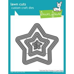 LF1630 Lawn Cuts Custom Craft Die Stitched Star Frames