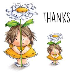 """400979 Stamping Bella Squidgy Cling Stamp Daisy Squidgy 6.5""""X4.5"""""""