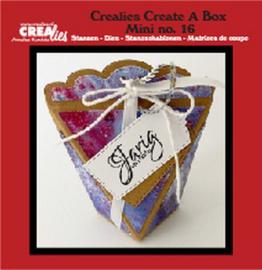 CCABM16 Crealies Create A Box Mini no. 16 zakdoosje