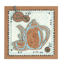 455916 Cutting & embossing Coffee Time silhouette