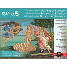 """171229 Paint By Number Kit Artist's Collection The Birth Of Venus 12""""X16"""""""