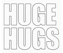 MFT-1670 My Favorite Things Huge Hugs Die-namics