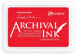 AID 41399 Wendy Vecchi Designer Series Archival Ink Pad Carnation Red