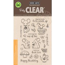 "HA-CM235 Hero Arts Clear Stamps Mouse Tea Party 4""X6"""