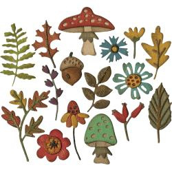 663087 Sizzix Thinlits Dies Funky Foliage By Tim Holtz 20/Pkg