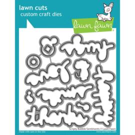 LF2503 Lawn Cuts Custom Craft Die Scripty Bubble Sentiments