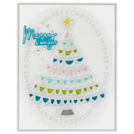 S3399 Spellbinders Shapeabilities Die D-Lites Joyful Christmas Tree