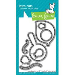 LF2224 Lawn Cuts Custom Craft Die Hey Lady