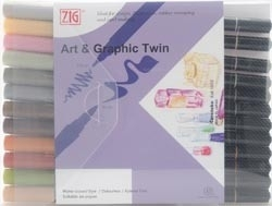 277510 Zig Art & Graphic Twin 12 Color Set Musterd