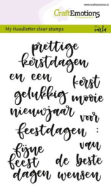 130501/1828 CraftEmotions clearstamps A6 handletter - woorden kerst