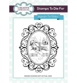 UMS734 Stamps To Die For Cosy Cottage