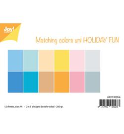 6011/0564 Papier Set A4 Matching Colors Uni Holiday Fun