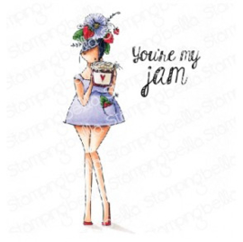 565536 Stamping Bella Cling Stamps Curvy Girl Loves Ja