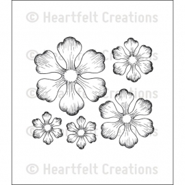 112511 Heartfelt Creations Cling Rubber Stamp Set Arianna Blooms