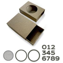 665439 Sizzix Bigz L Die W/Thinlits Dies Matchbox By Tim Holtz