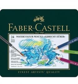 117524 Faber Castell Albrecht Dürer set FC Aquarel Metalen etui a 24st