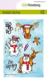 130501/1651 CraftEmotions clearstamps A6  Snowy & friends 1 Carla Creaties
