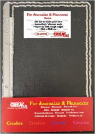 CLJP996 Crealies Journalzz & Pl Stans plannerpagina Ruwe randen