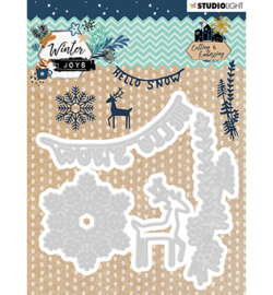 STENCILWJ229 StudioLight Embossing Die, Winter Joys nr.229