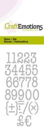 115633/0263 CraftEmotions Die typewriter cijfers Card