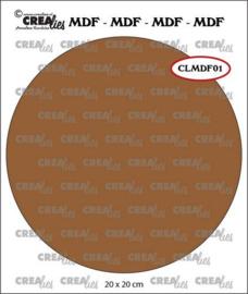 CLMDF01 Crealies MDF cirkel