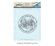 DSC-041 Spellbinders Hello Ornate 3D Shading Stamp