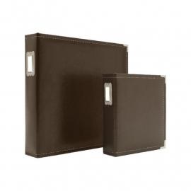 """038485 Sn@p! Leather Binder 6""""X8"""" Brown"""