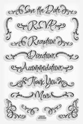460569 Stampendous Clear Stamps Wedding Words