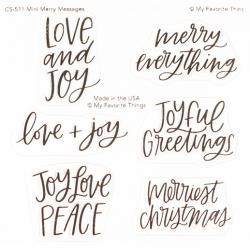 "CS511 My Favorite Things Clear Stamps Mini Merry Messages 4""X4"""