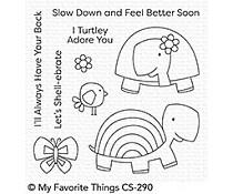 CS-290 My Favorite Things Too-Cute Turtles Clear Stamps
