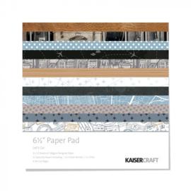 PP1056 Kaisercraft paper pad 16,5x16,5cm Let's go