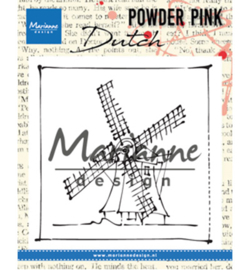 PP2802 Marianne Design Powder Pink Windmill