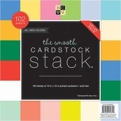 "209478 DCWV Cardstock Stack Smooth Solid 12""X12"" 102/Pkg"