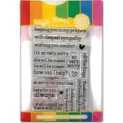 565773 Waffle Flower Stamp & Die Set Here For You