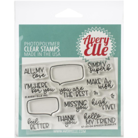 "617091 Avery Elle Clear Stamp Set Speech Bubbles 4""X3"""